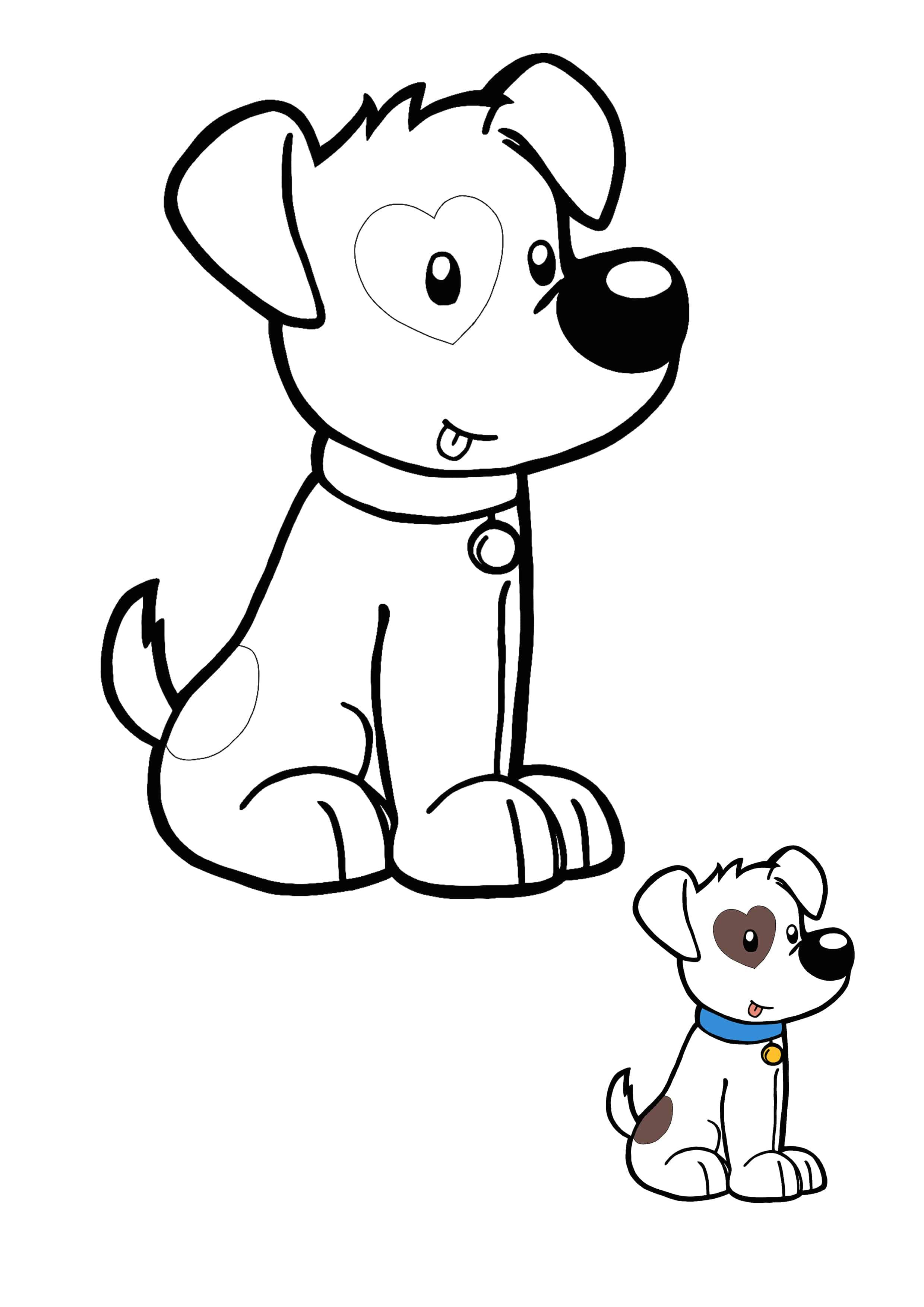 Kawaii Dog Coloring Sheet Dog Coloring Page Coloring Pages Kawaii Animals
