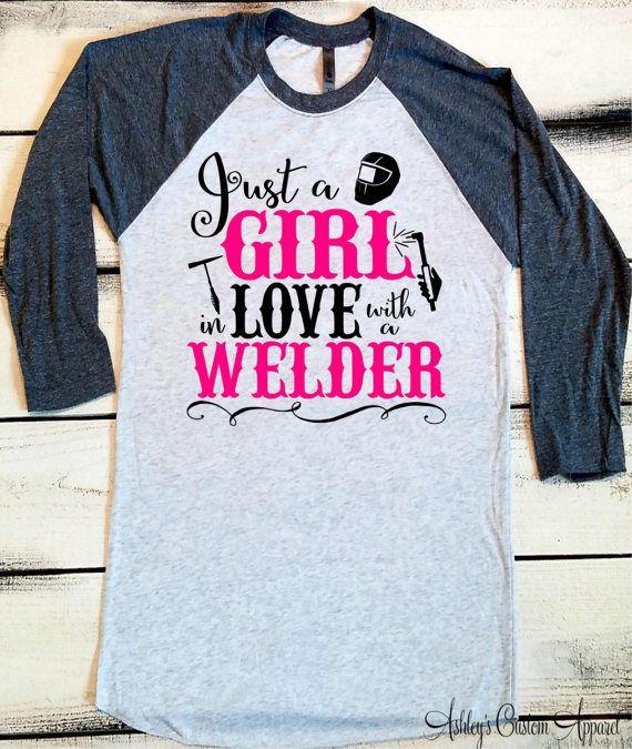 3368b6e4c Welder's Wife, Welders Wife Shirt, Welder Shirts, Proud Welder, Baseball Tee,  Welding Wife, I Love my Welder, Welder Wifey, Custom Welder by ...