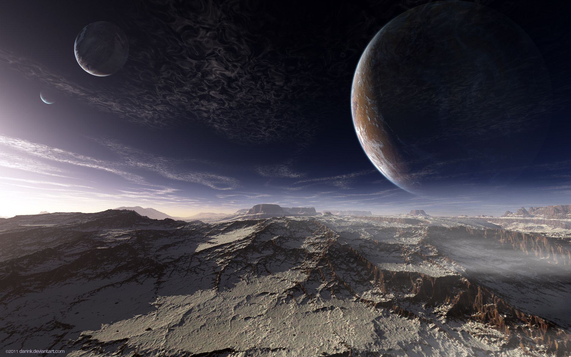 Alien Landscapes Planets Alpha Coders Wallpaper Abyss