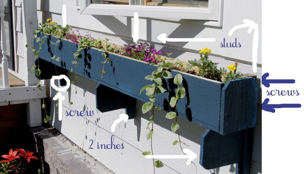 DIY Window box mounting
