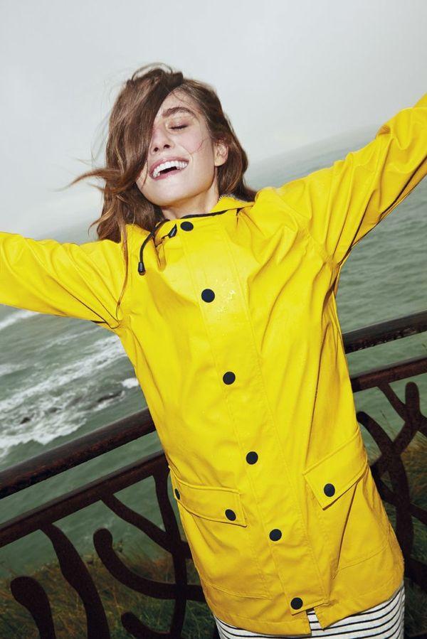 regenmantel damen gelb damen mode Regenmantel für Damen