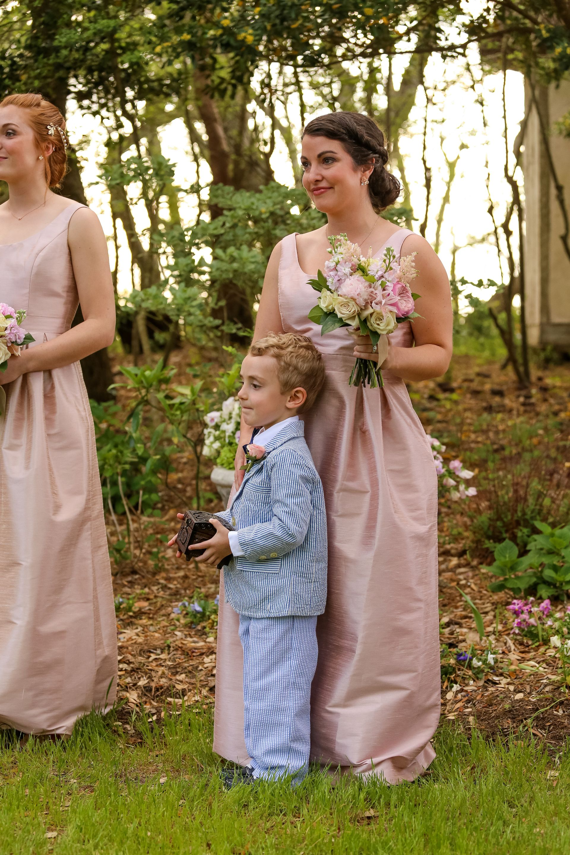 Garden Wedding, All eyes on our bride, bridal party style ...