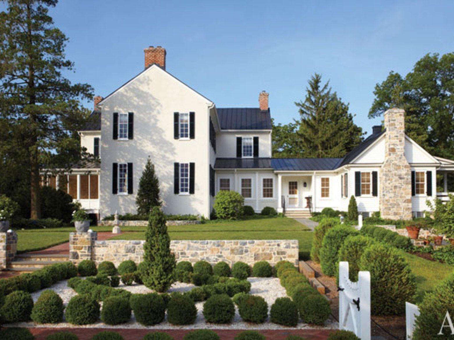 Elizabeth Locke S Federal Style Virginia Farmhouse House