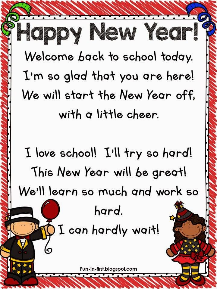 New Year's Poem Freebie | New year poem, Poems about ...