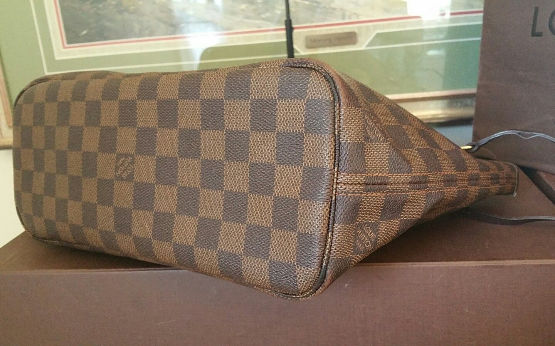 80c1537645b2 ❤Neverfull PM Damier Ebene ❤Louis Vuitton Shoulder Tote Handbag Purse 100%  LV👜