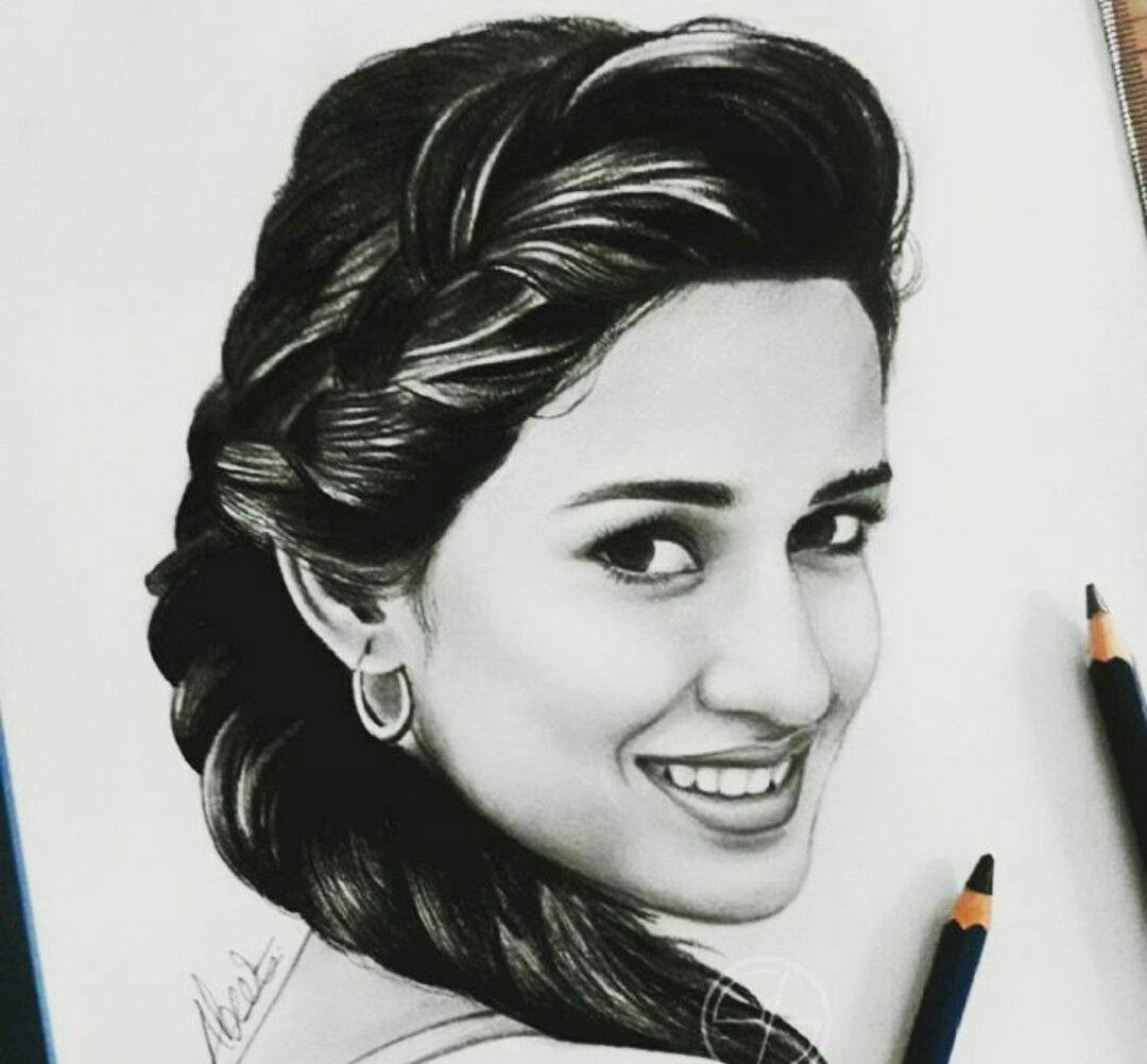 Beautiful bollywood actress · gorgeous disha patani face sketch drawing sketches pencil drawings art drawings female