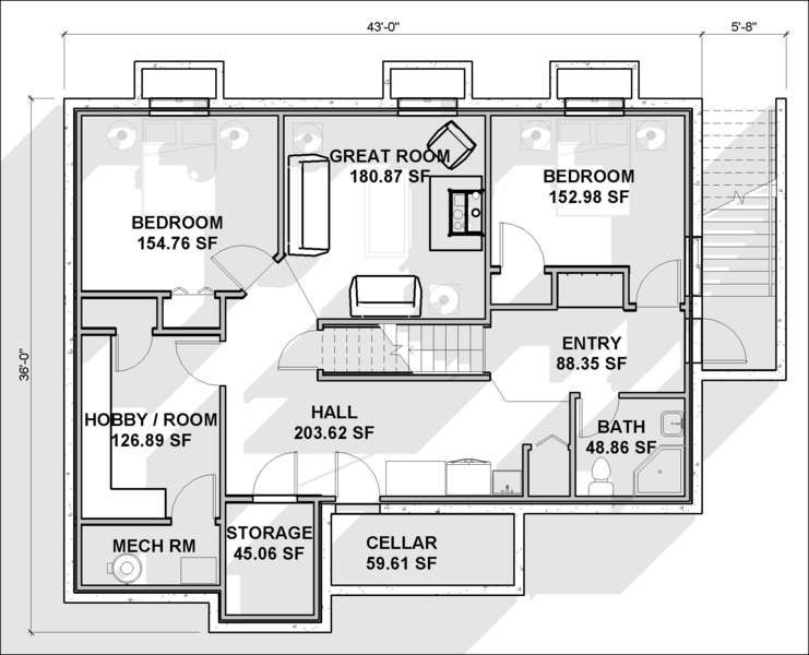 Home Design Plans With Basement Interior Retail