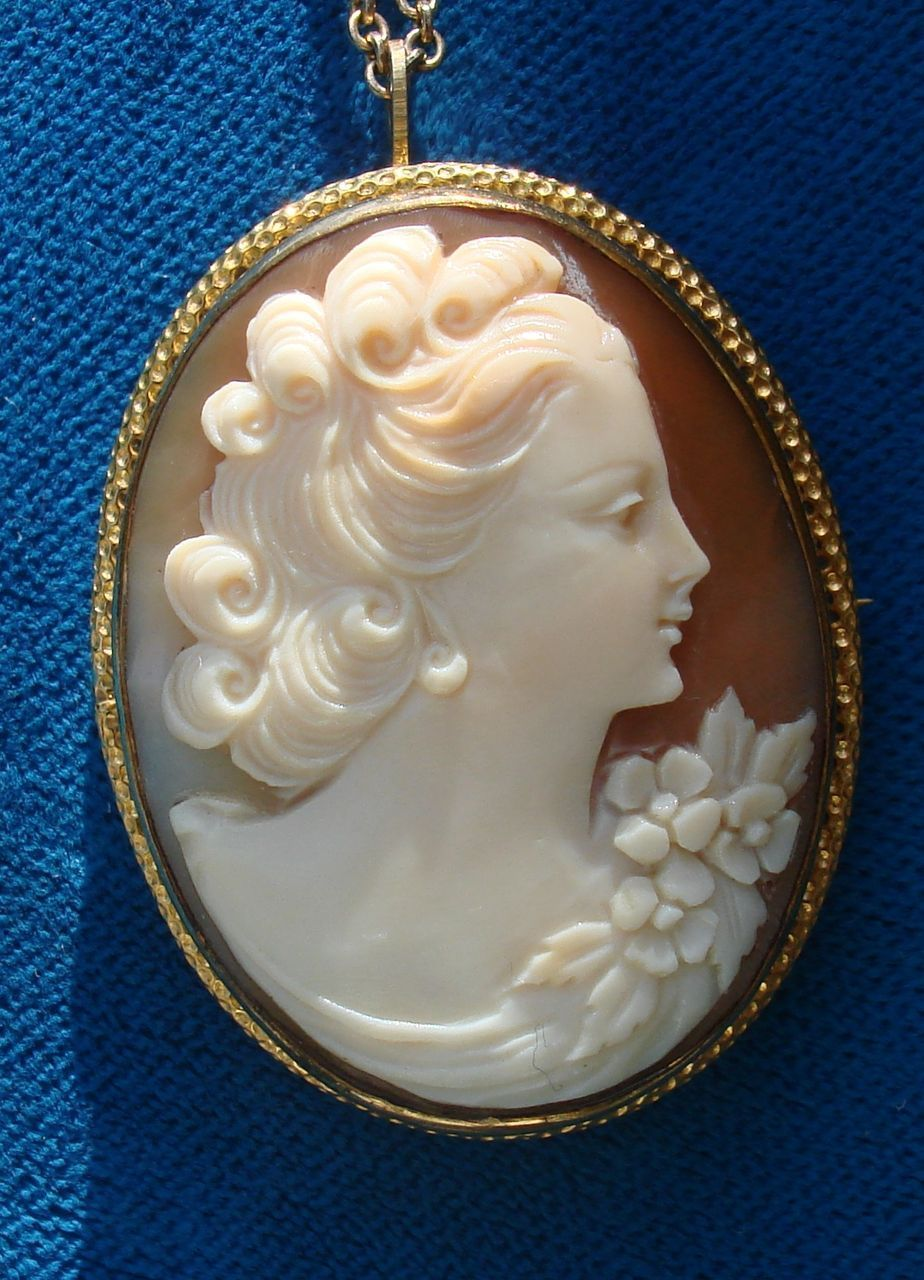 Vintage hand carved shell cameo pendantbrooch mounted in 12k gold c vintage hand carved shell cameo pendantbrooch mounted in 12k gold c1930s such aloadofball Choice Image