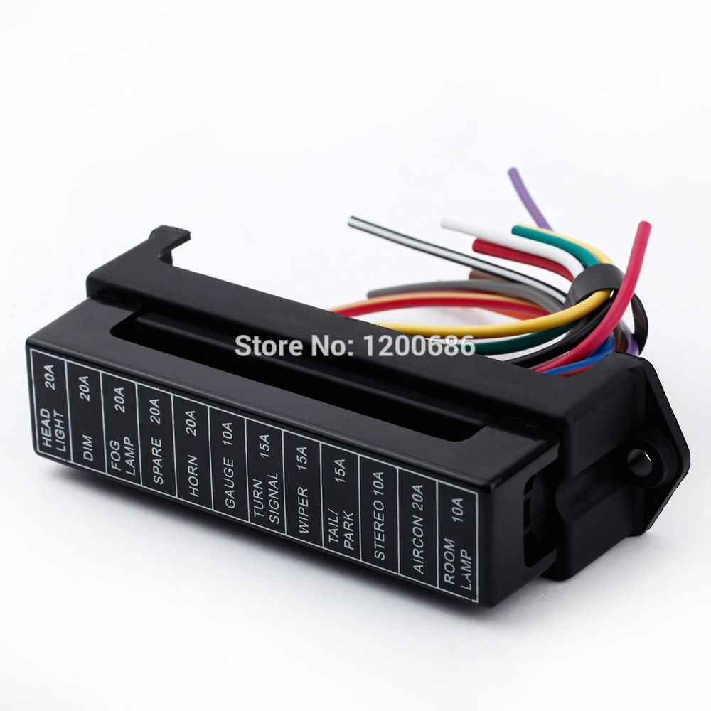 12 Way Dc 12v Volt Fuse Box 24v 32v Circuit Car Trailer Auto Blade Fuse Box Block Holder Atc Ato 2 Input 12 Ouput Wire Fuse Box Car Trailer Auto