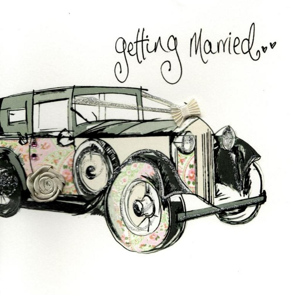 Getting Married Wedding Day Embellished Greeting Card
