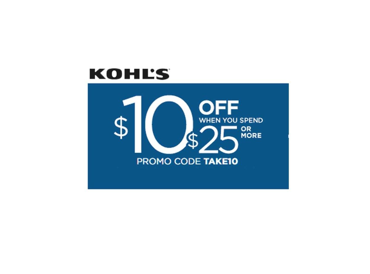 It's just a picture of Terrible Kohls 10 Off 25 Printable Coupon