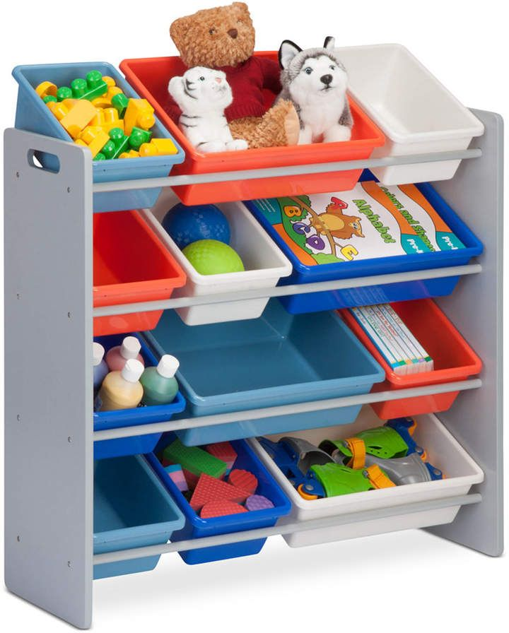 Honey Can Do Kids Toy Room Organizer With Totes 12 Bins Reviews Cleaning Organization Home Macy S Toy Room Organization Kids Storage Kid Toy Storage
