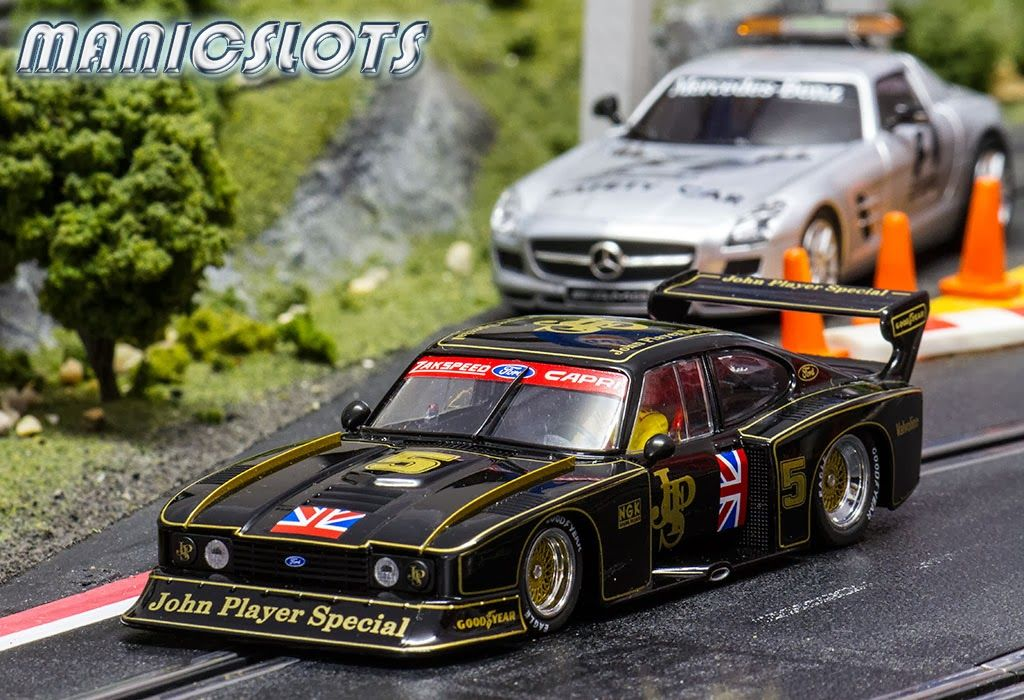 Slot Cars Sideways Ford Capri Zakspeed Gr 5 Swle01 Limited Jps Edition Numera See More Photos At Http Manicsl Slot Cars Slot Car Racing Slot Car Tracks