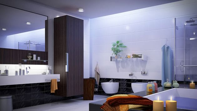 Large Bathroom Designs Fascinating How To Decorate A Large Bathroom For Better Function And Style Design Decoration