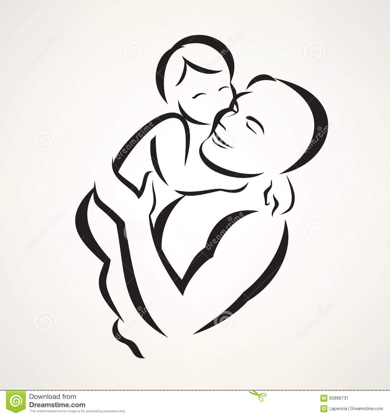 Resultado De Imagem Para Father And Baby Vector