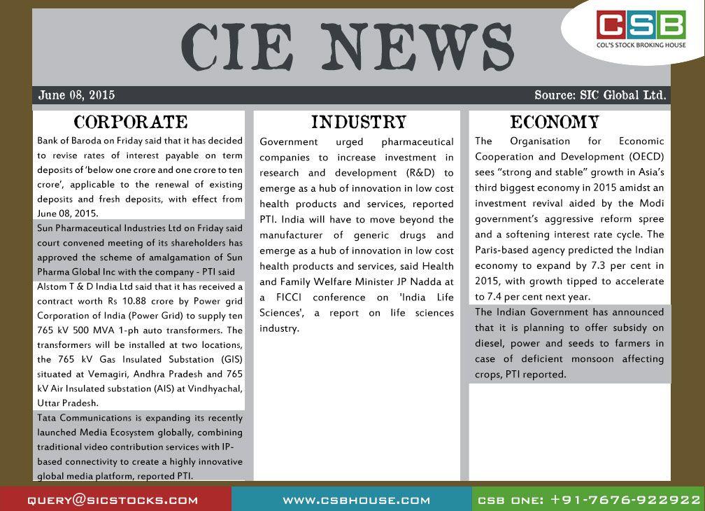 CSB CIE news (June 08) Bank of Baroda on Friday said that