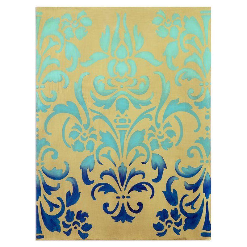Uttermost Blue Ombre Stencil Art | Art - walls | Pinterest | Blue ...