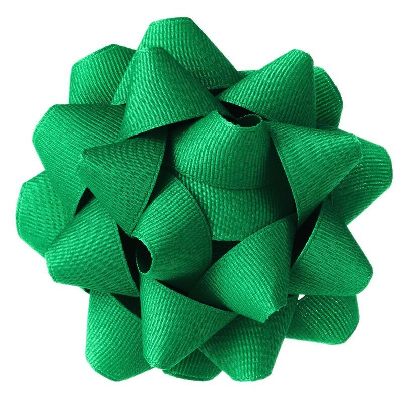 Green Grosgrain Ribbon Gift Bow, 4.6 #howtomakeabowwithribbon