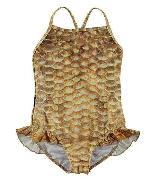 e4c0620e8814bd Molo Gold Fishshell Swimsuit | Kids Swimwear | Swimsuits, Kids ...