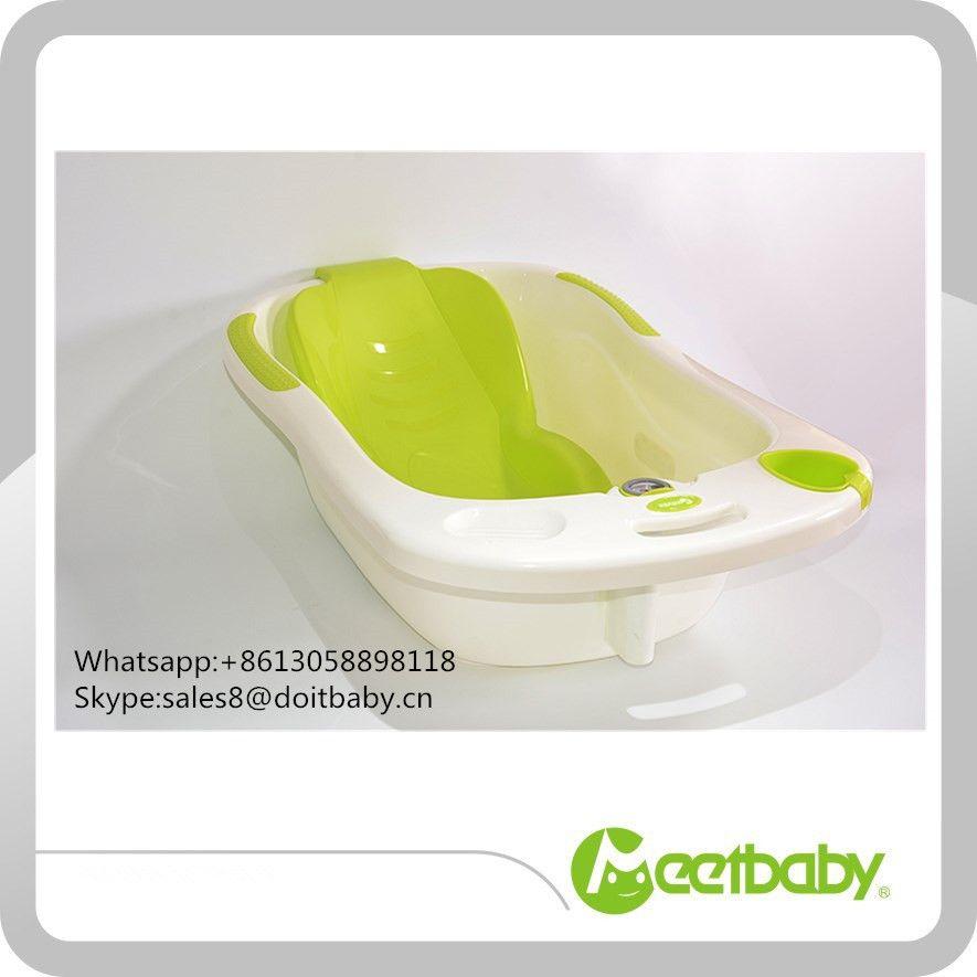 Plastic baby bath tub with bath chair thermometer baby bathtub ...