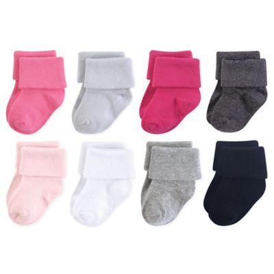 Luvable Friends Girl Baby Socks 8-Pack Ballet