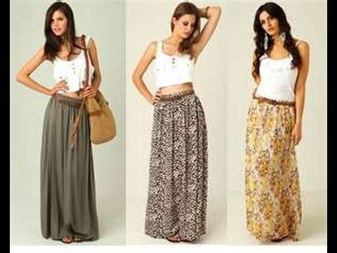 How to make a maxi skirt in 5min easy for beginners sewing More ...