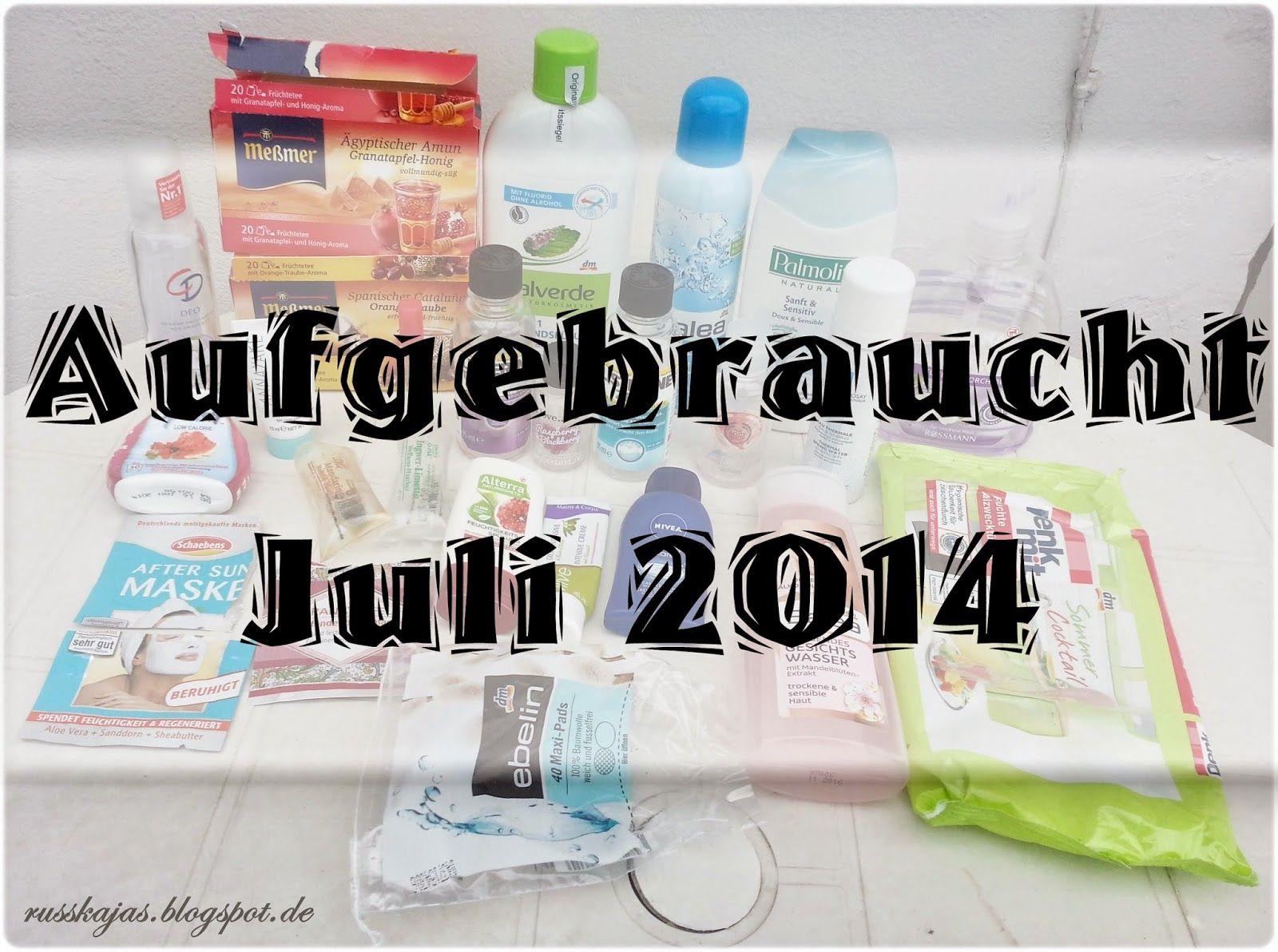 Russkajas Beautyblog: Aufgebraucht Juli 2014