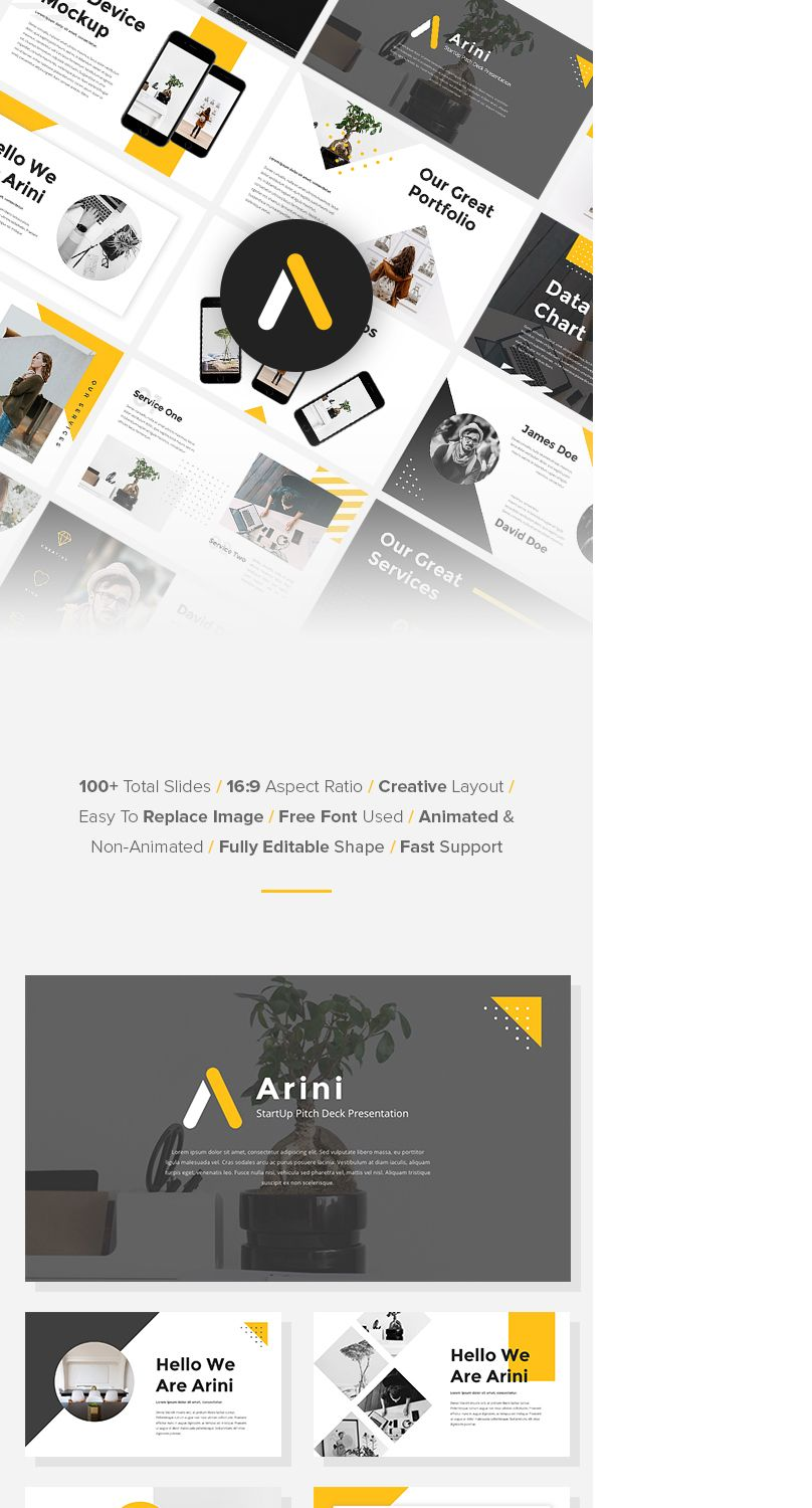 Check Out My Behance Project Arini StartUp Pitch Deck Keynote - Keynote deck templates