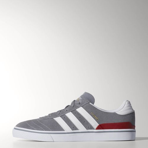 adidas - Busenitz Vulc Shoes Grey / Running White / University Red C77274