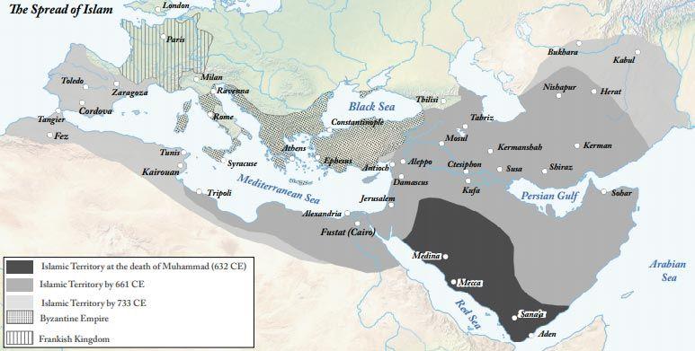 Map of Spread of Islam Gill Cruz Indian Ocean Trade Pinterest