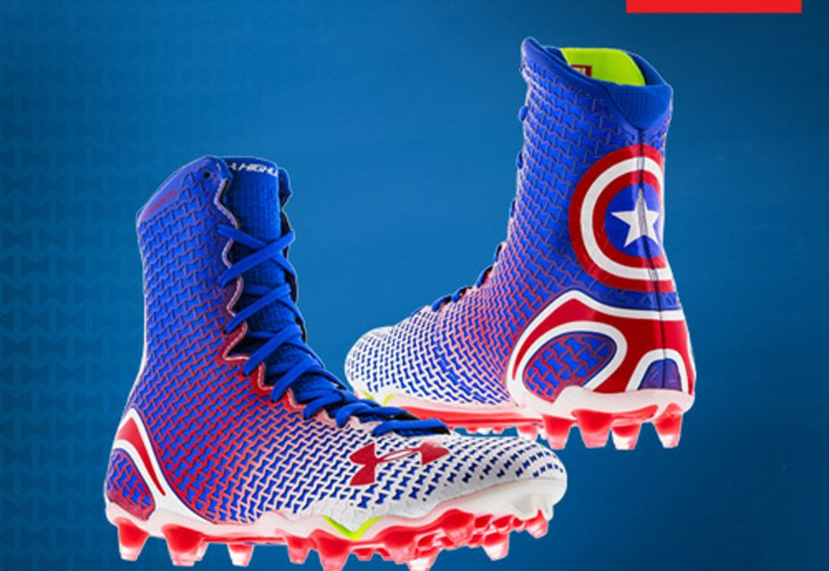 Under Armour Cool Superhero Cleats Captain America