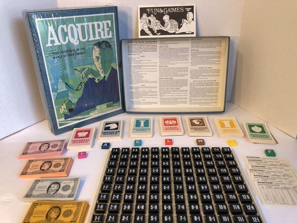 Vintage 1968 ACQUIRE 3M Bookshelf High Finance Board Game