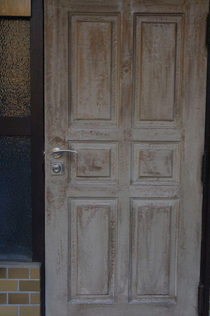 Diy 玄関のドアを古材で作ってみた カフェ風 いなかそち Com