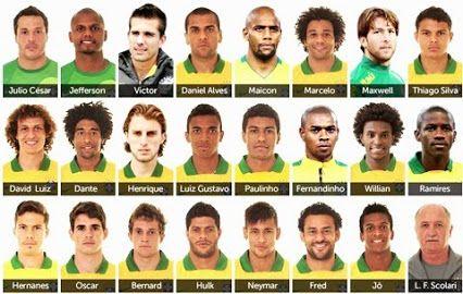 Canal Da Copa 2014 Google Jogadores Do Brasil Copa Brasil Selecao Brasileira