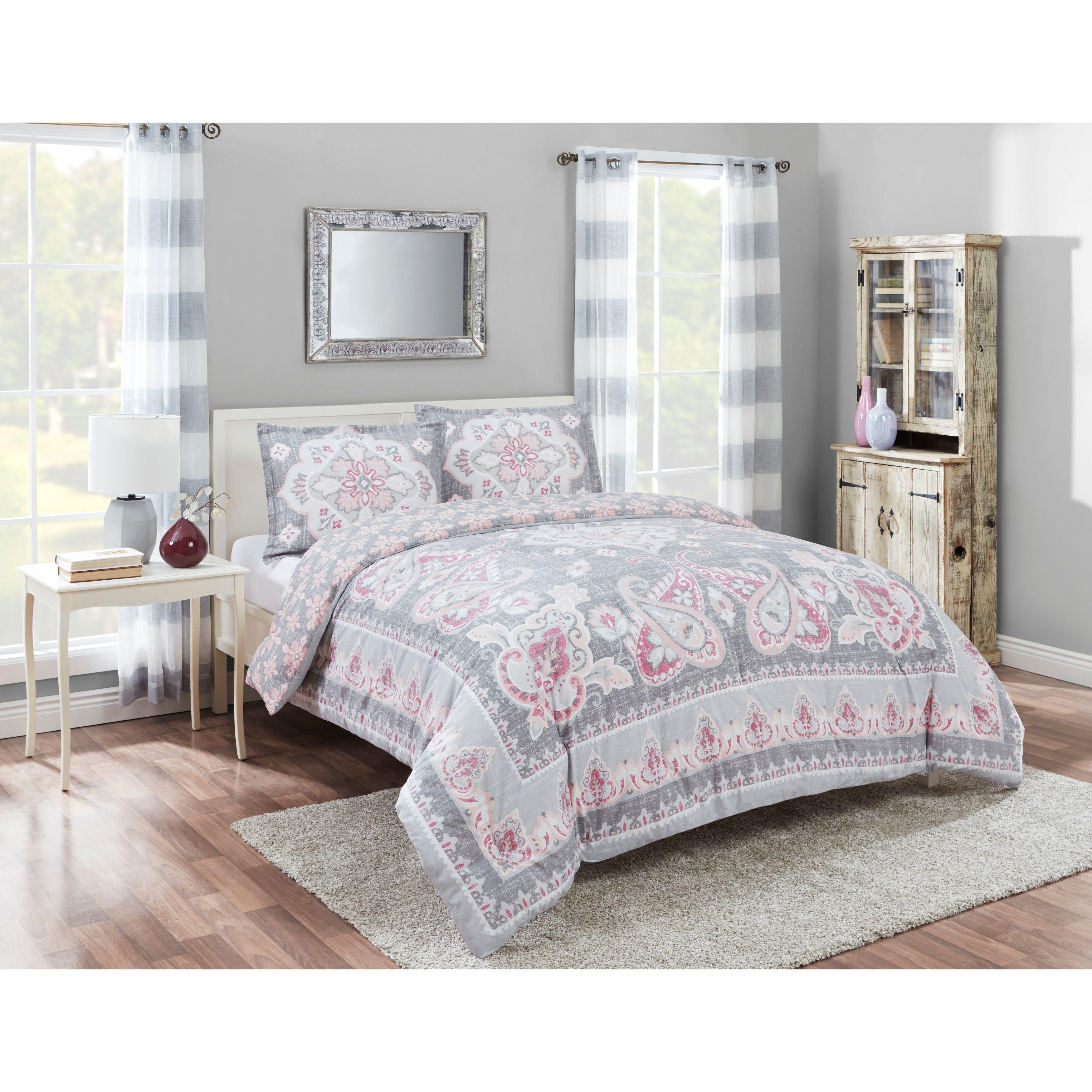 Marble hill nala reversible piece comforter set full queen