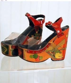a740435c2ff22 Peter Max design, 70s wedges | twinkle toes in 2019 | 70s shoes ...