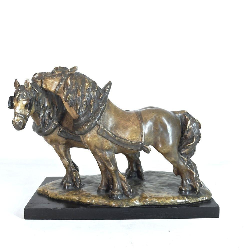 Grosse keramik skulptur guido cacciapuoti 2 pferde for Mobel 19 jahrhundert