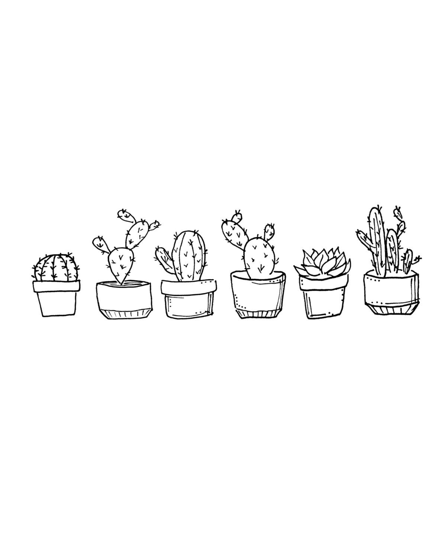 Cactus Printable Succulents Drawing Cactus Drawing Cactus Print