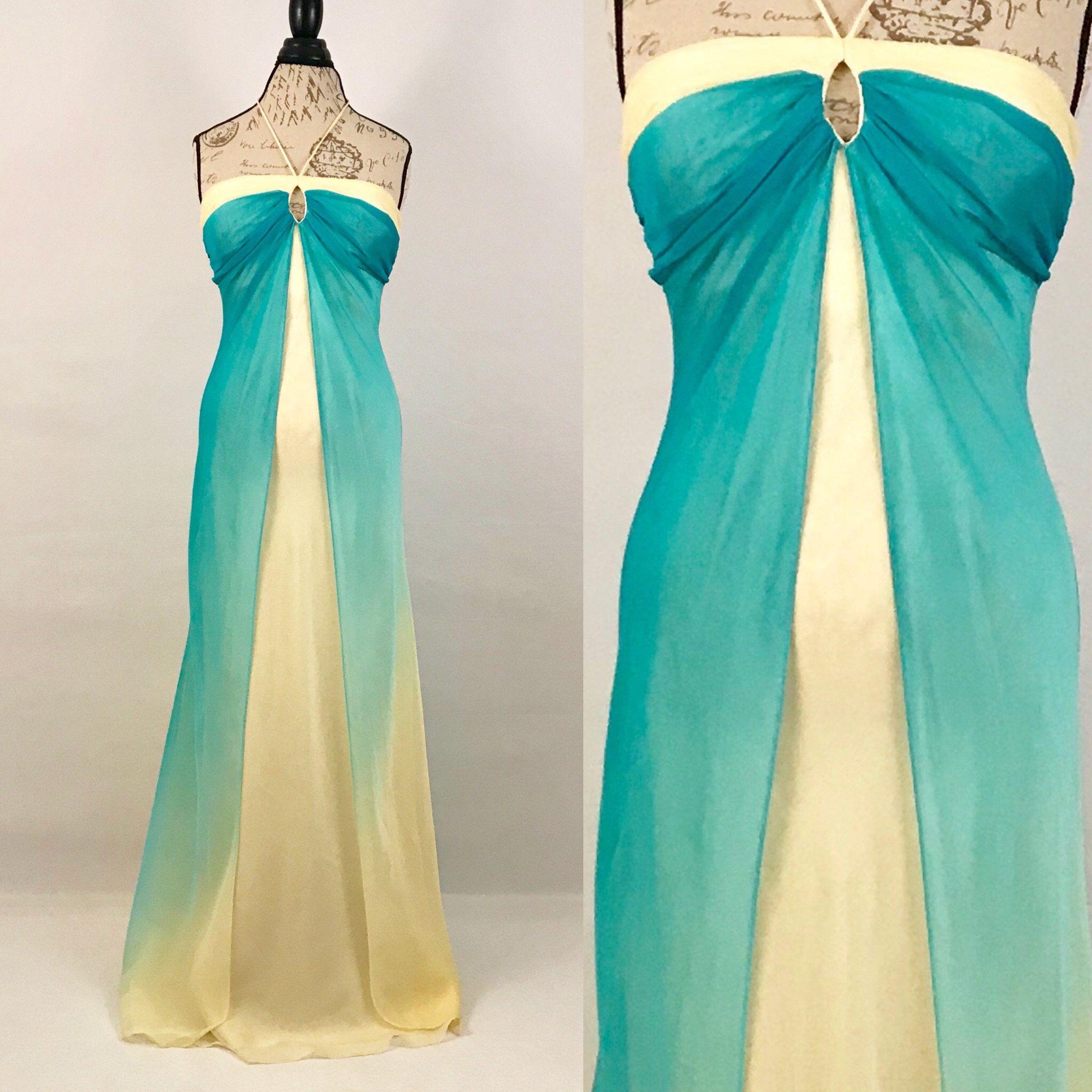 1990s Chiffon Ombre Prom Dress Vintage Yellow Blue Hues Etsy Prom Dresses Vintage Vintage Dresses Ombre Prom Dresses [ 2048 x 2048 Pixel ]