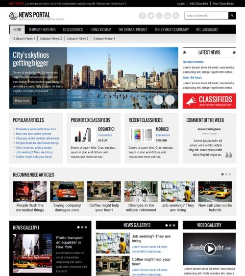 News Portal Template. global news portal html5 css3 template by ...