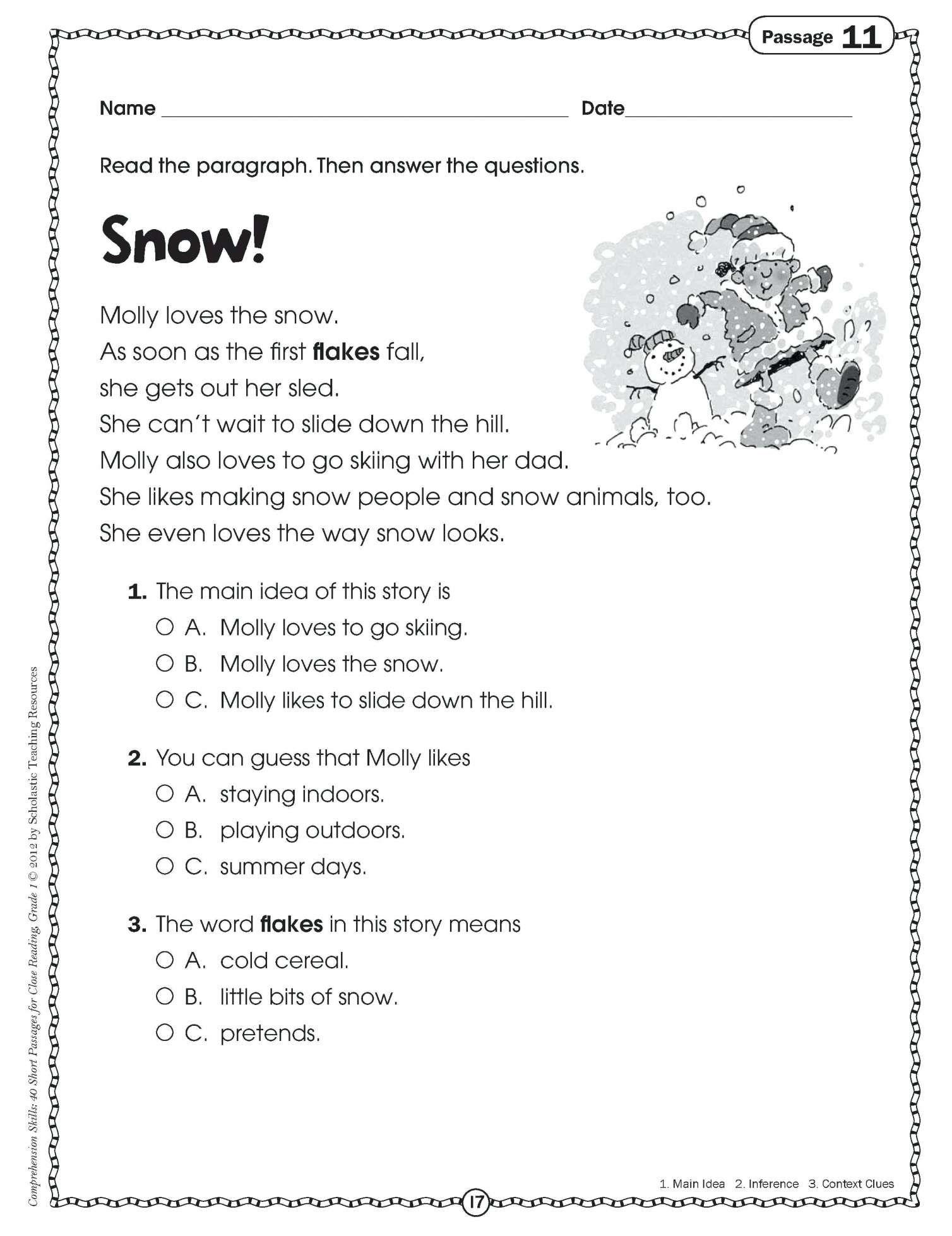 12 3rd Grade Reading Writing Worksheets