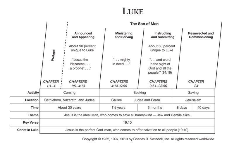 Book Of Luke Overview Insight For Living Ministries Bible Study Lessons New Testament Bible Bible Overview