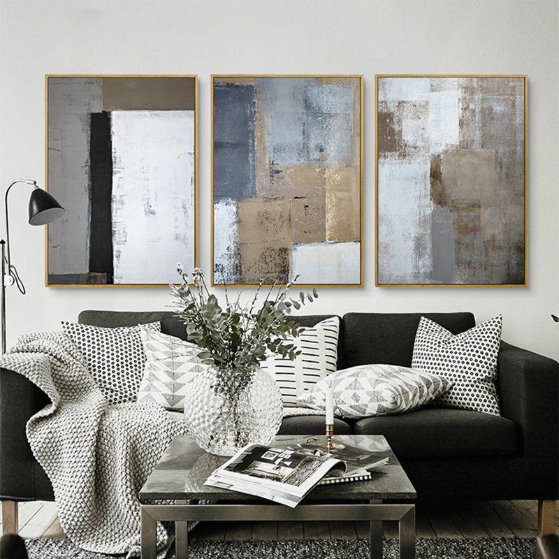 Schön Skandinavischen Nordic Dekorative Minimalistischen Abstrakte Licht Farbe  Leinwand Malerei Kunstdruck Poster Für Wohnzimmer Dekoration In  Skandinavischen