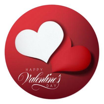 Happy Valentineu0027s Day Card - Round - valentines day gifts gift - valentines day gifts