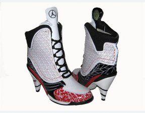 20ff3f46b62d Air Jordan 23 High Heels Black Red White Shoes