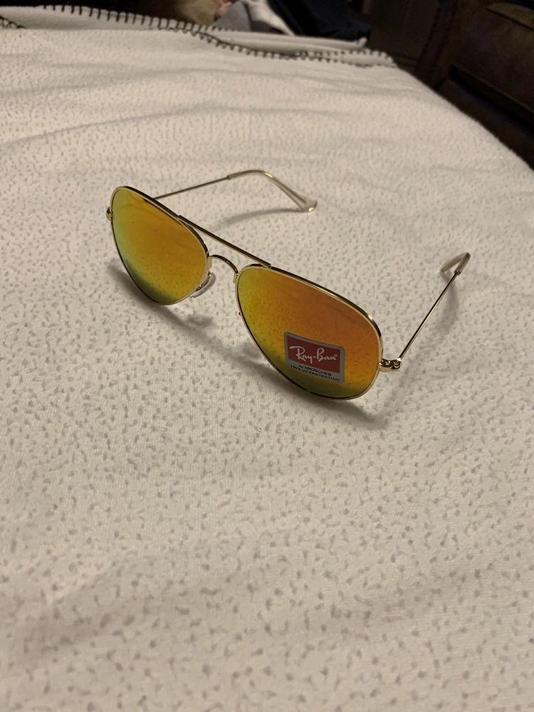 62bb147b270 Ray-Ban 58mm Polarized Yellow Mirror Chromance Aviator Sunglasses...   fashion