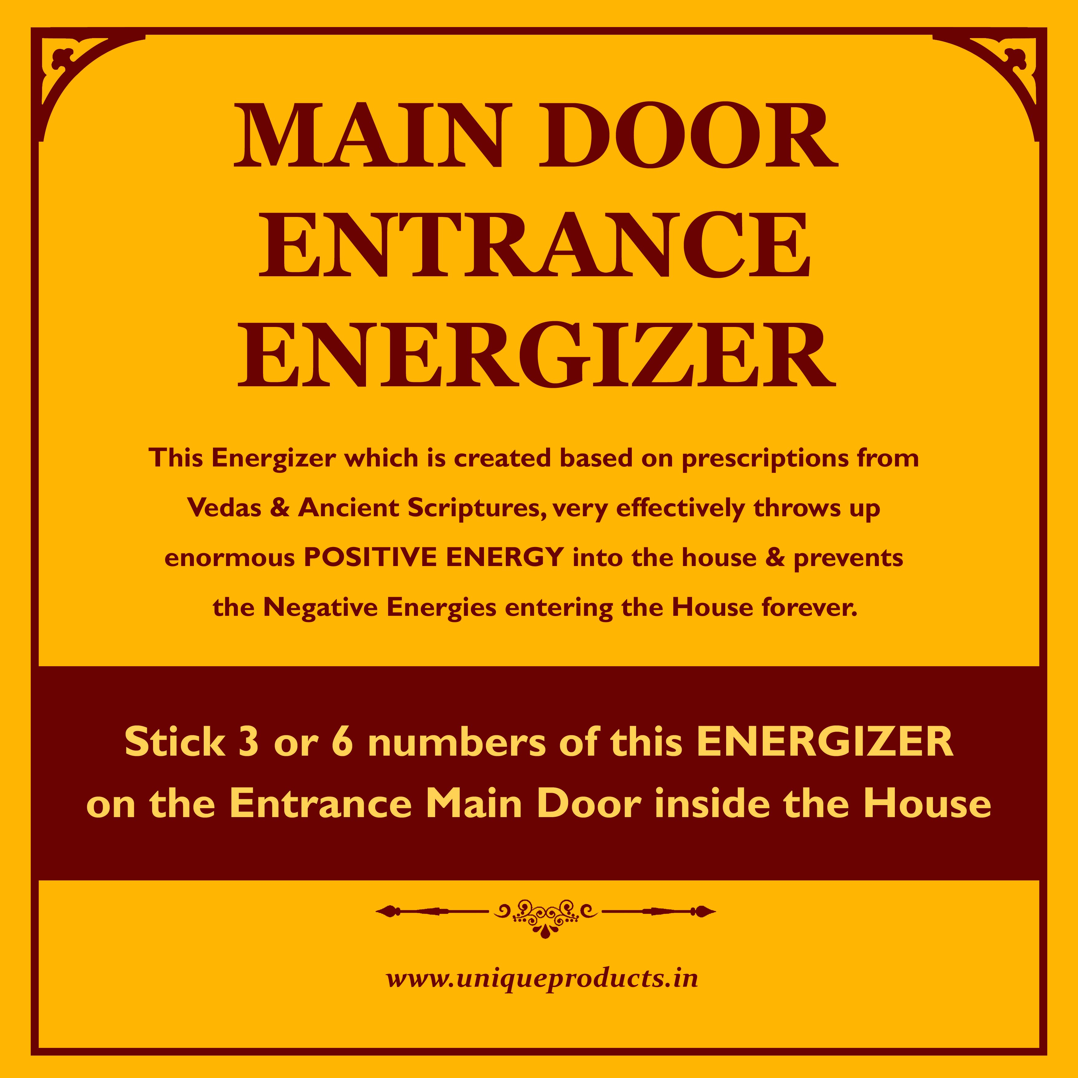 According to Hindu Vastu Shastra, the Main Entrance Energy of a ...