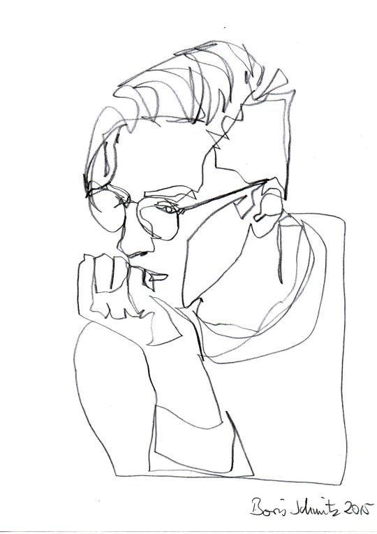 Pencil Portrait Mastery - ~ minimalist man ~ - Discover The Secrets - line drawing