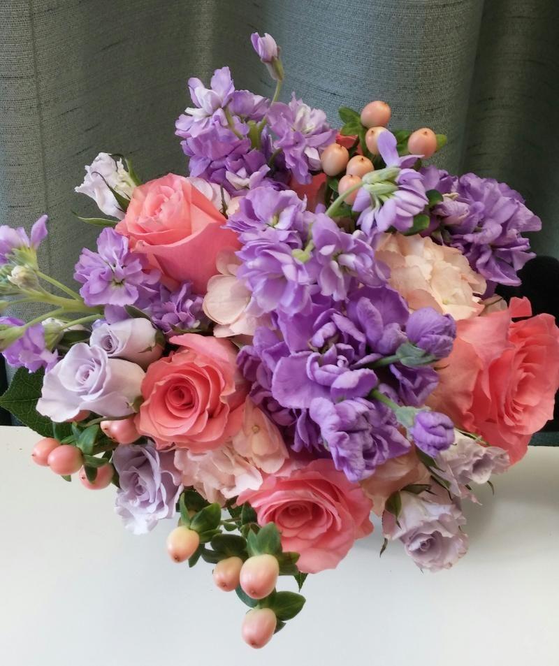 Coral And Lavender Wedding Bouquet Cheap Wedding Flowers Flower Centerpieces Wedding Blue Wedding Flowers