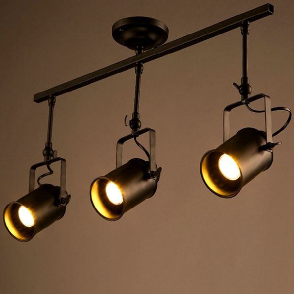 Loft vintage led track light triple heads spotlight industrial loft vintage led track light triple heads spotlight industrial ceiling sconce for bar clothing store mozeypictures Gallery